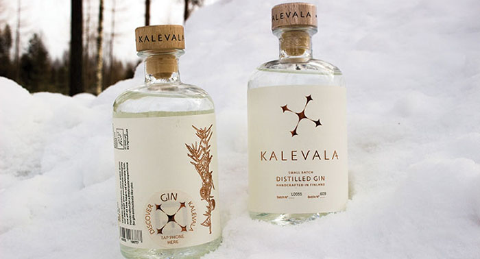 Kalevala Gin uses an NFC-enabled tag
